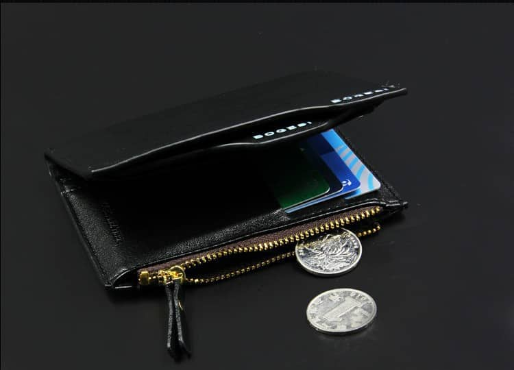 Bogesi Wallet Has Zipper for keeping Coins