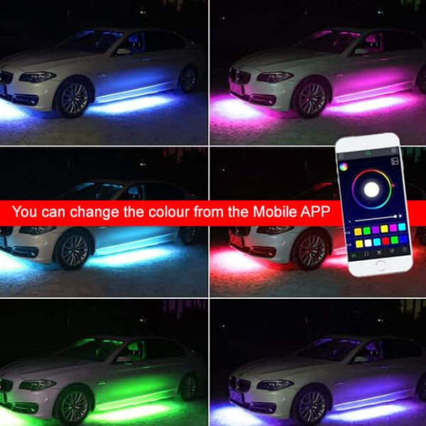 Change the colour via Mobile APP