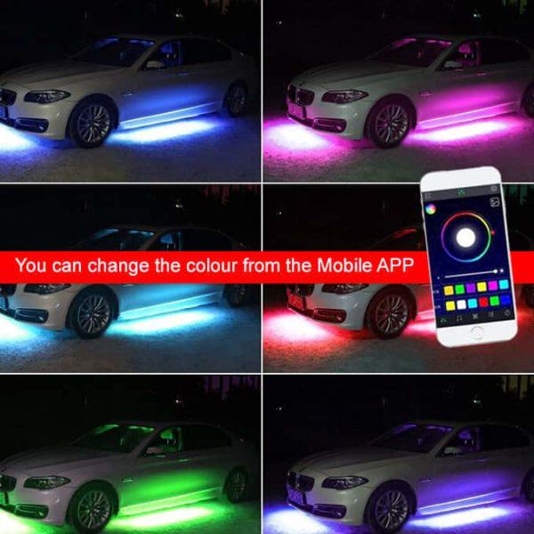 Change the colour via Mobile APP