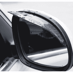 Rain shade for car looking glass or side mirror