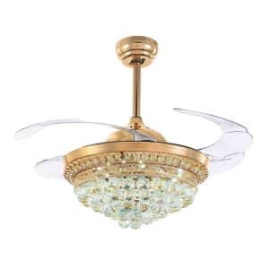FLW-01 42 inch Ceiling Fan With Light Golden Colour