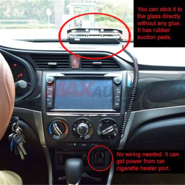 How to install the vip police light in car