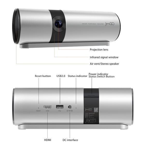 JMGO Projector P2 has rich interfaces