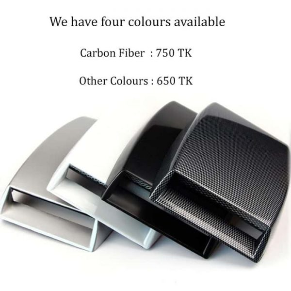 Many colours available for the car roof hood scoop