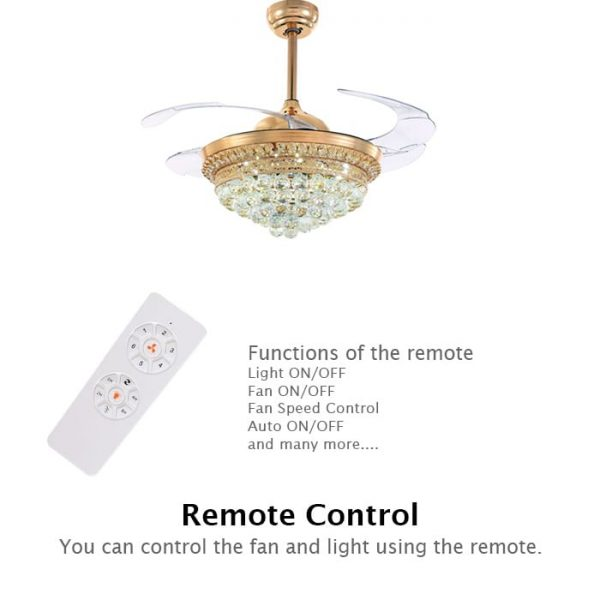 You can control the fan by remote