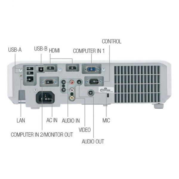 Ports of Hitachi CP-X3042WN Projector BD
