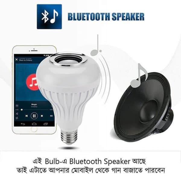 A Bulb With Bluetooth Speaker