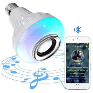 Bluetooth Speaker Bulb With Remote Control Colour Changing