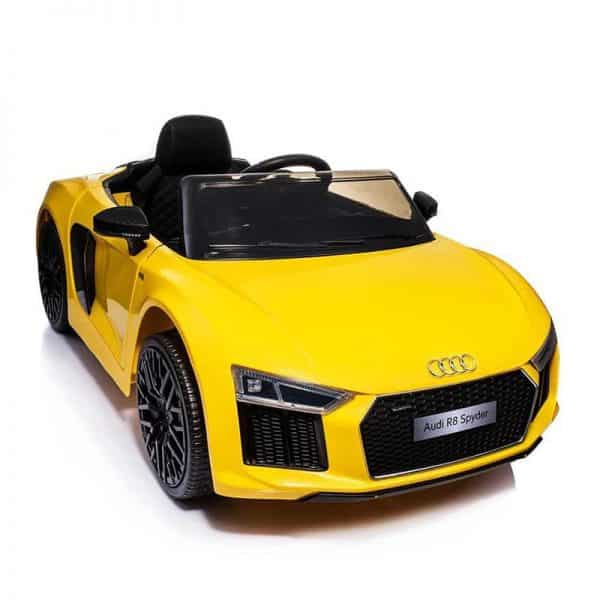 Yellow Audi R8 Mini Electric Car For Baby or Kids