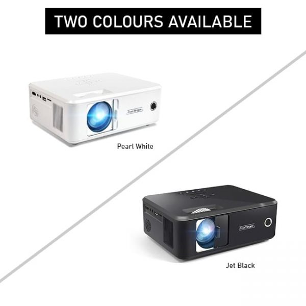 This projector has two body colours