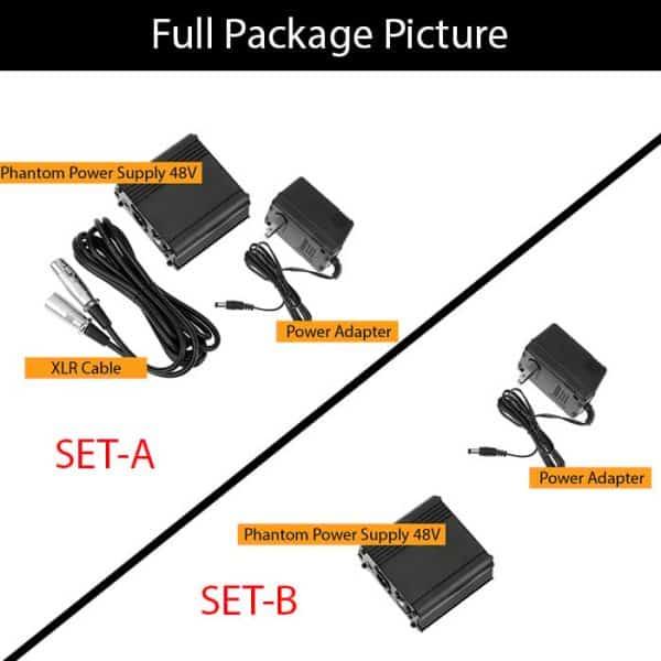 Package Offer for 48V Phantom Power Supply