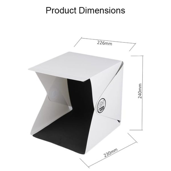 Dimensions And Price List of The Product Photography Box
