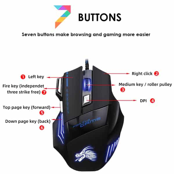 7 Buttons Popular X7 Gaming Mouse In BD