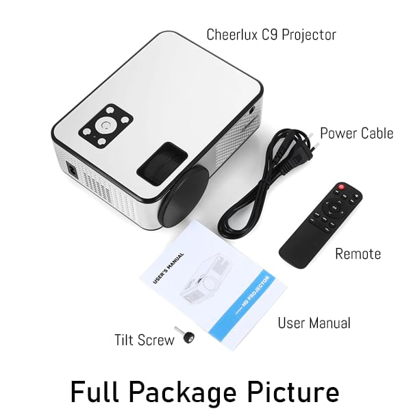 Cheerlux C9 Mini Projector Includes A Free Remote And Many More