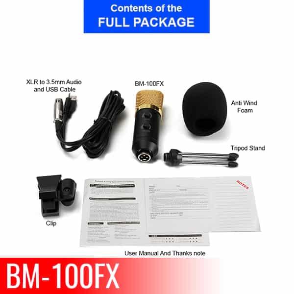 Condenser Microphone For Studio Recording BM100FX