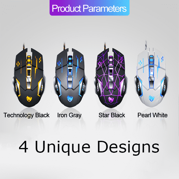 T Wolf V6 RGB Mouse Comes In Four Unique Designs