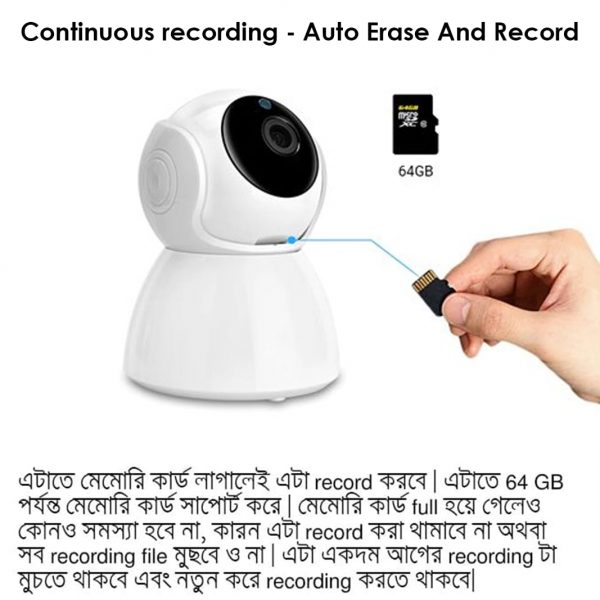 This IP Camera Supports Continuous Recording With Auto Erase And Record