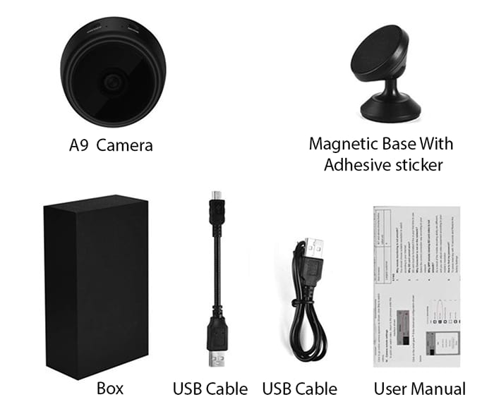 A9 IP Camera Package Contents