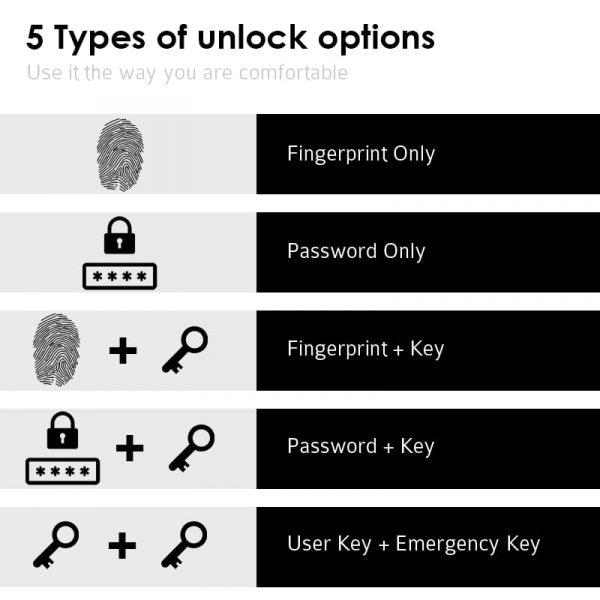 Digital And Fingerprint Unlock options