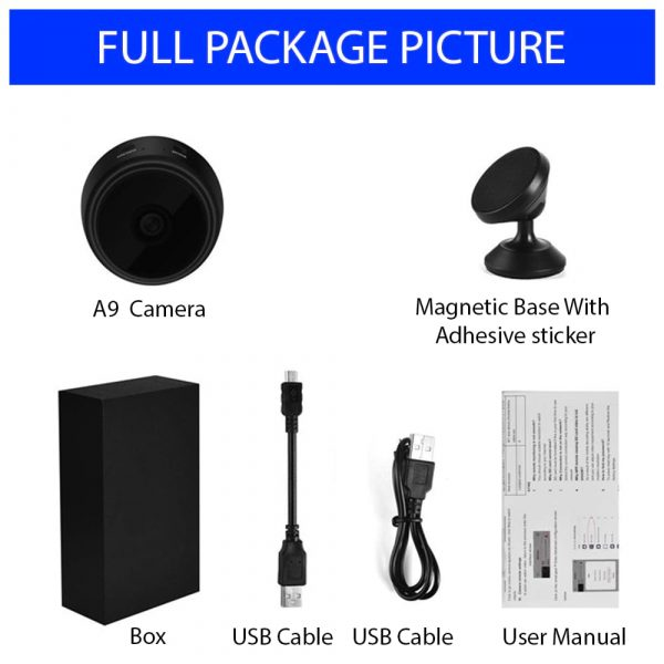 Full package Contents - Complete Mini Camera Setup In BD