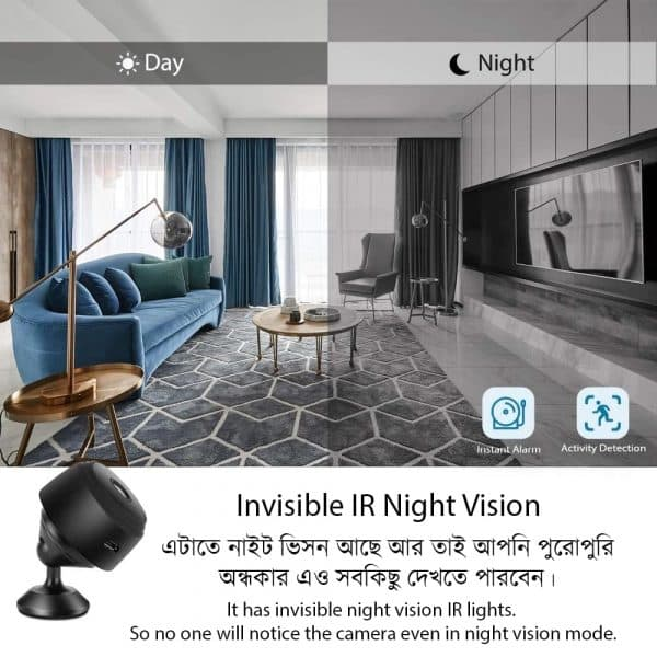 IR Technology Evolved - Experiance New Type Of Hidden Night Vision In A9 Camera