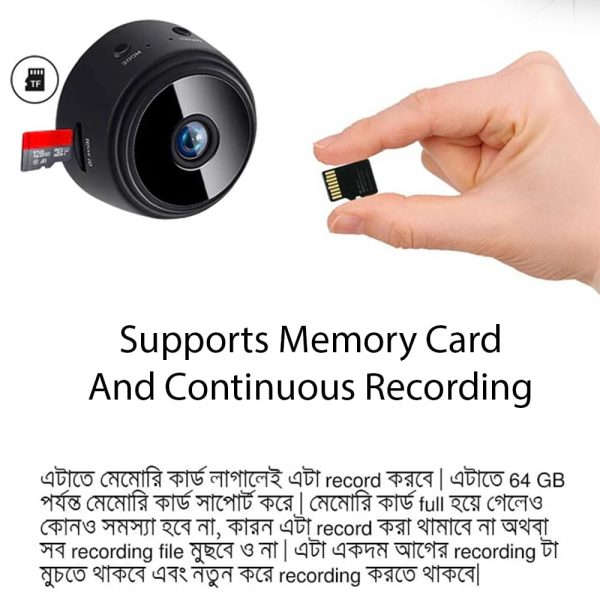 Mini Size Camera But Powerful Features - Supports Continuous Recording