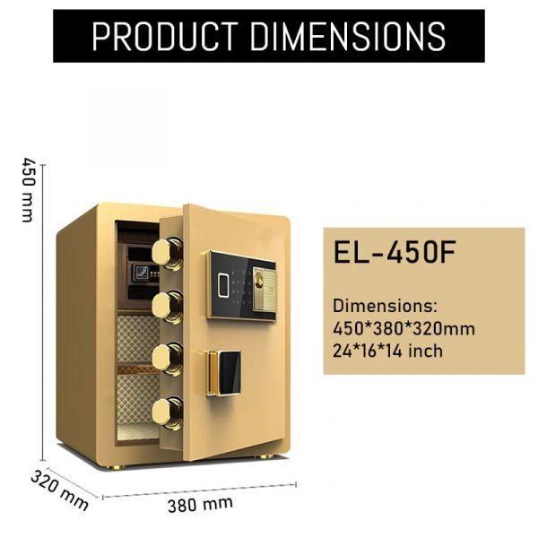 el-450f digital plus fingerprint locker dimensions