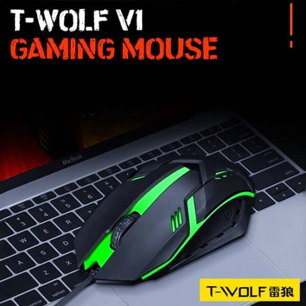 Buy T-Wolf V1 RGB Gaming Mouse Only At 200 BDT