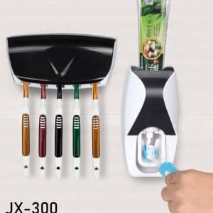 JX-300 Toothpaste Dispenser Plus Toothbrush Holder