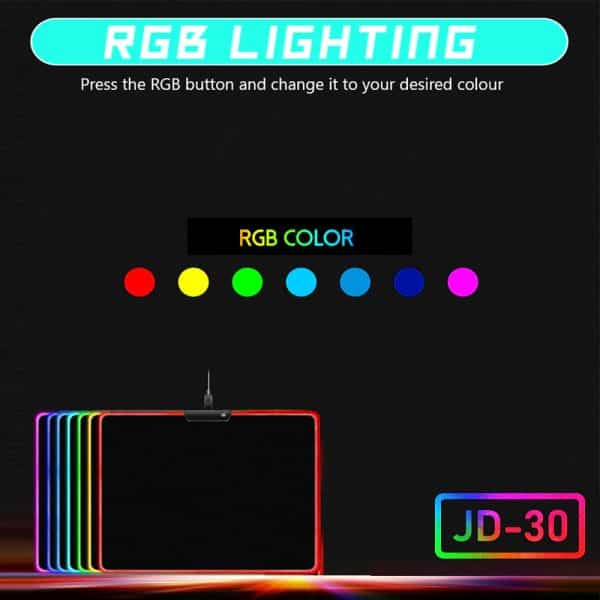Mouse pad with RGB lighting